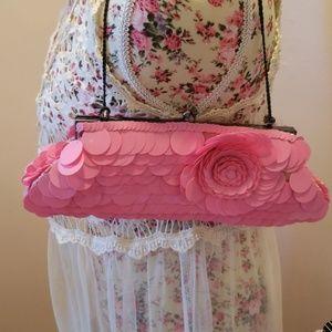 Pink evening bag